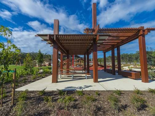 2016 Queensland Commercial Landscape Construction of the Year - Eureka Landscapes - Forest Green Park, Gainsborough Green, Pimpama